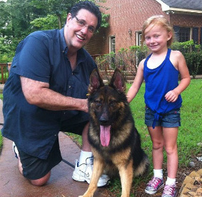 personal protection dog Rubix with Lana and Tom Antion