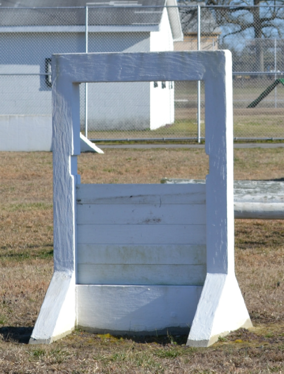 K-9 obstacle course simulated window